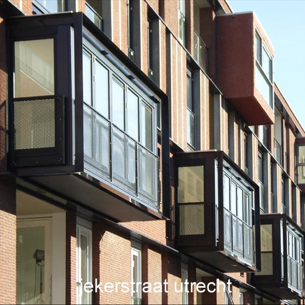 Appartementengebouw aan de Jekerstraat in Utrecht