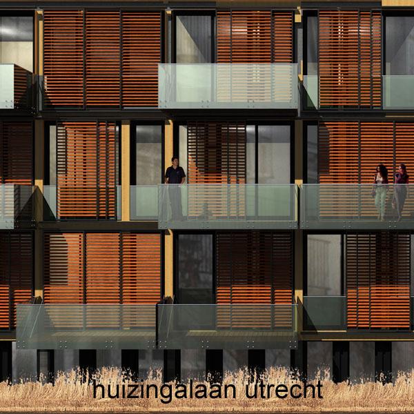 Ontwerp voor 39 zelfstandige studioappartementen aan de Huizingalaan in Utrecht