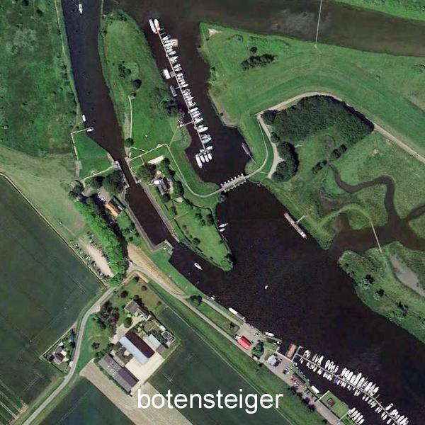 Botensteiger in het Brabantse Steenbergse Vliet nabij De Dintelse Gorzen