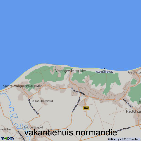 Ontwerp voor vakantiehuis met schildersatelier in Varengeville sur Mèr Frankrijk